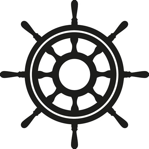 Boat Steering Wheel Silhouette by The Gallery For Gt Pirate Ship Steering Wheel Silhouette