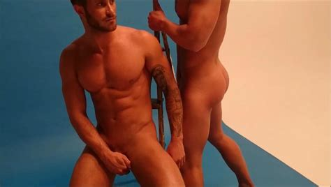 omg their butt joss mooney and ross worswick from ex on the beach photoshoot for gay times