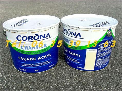 2 pots de peinture acrylique corona ton 10l 177 70m 178