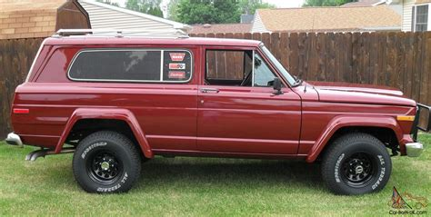 1979 jeep cherokee chief 1979 amc fsj jeep cherokee chief golden eagle wide track