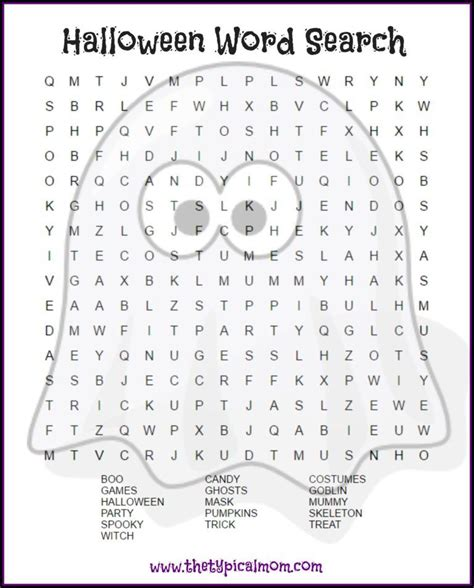 halloween word search printable pages you can give your