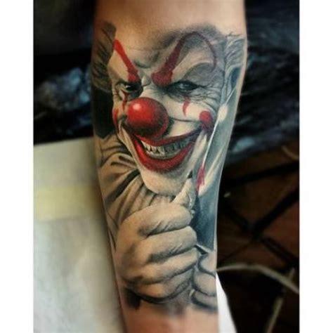 tatuaze klaun clown tattoo wzory tatuazy najwieksza