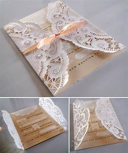Wedding wednesday doily invitations pink creative for Wedding invitations using paper doilies