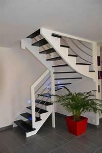 Escalier Bois Blanc : escalier blanc et bois galerie et escalier blanc et bois luxe peint en gris photo escalier blanc ~ Melissatoandfro.com Idées de Décoration