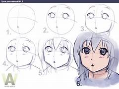 How to draw anime-girl in 6 steps - Publishing - Pixel2Life  Easy Anime Drawings For Beginners Step By Step