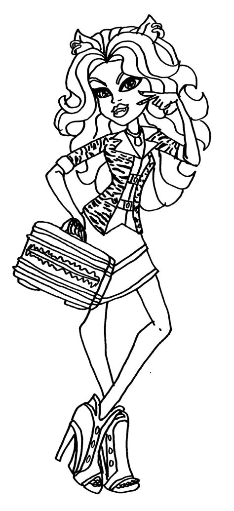 Monster High 13 Wishes Howleen Wolf Free Colouring Pages