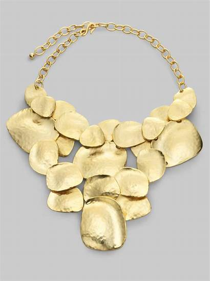 Necklace Hammered Bib Disc Lane Kenneth Jay