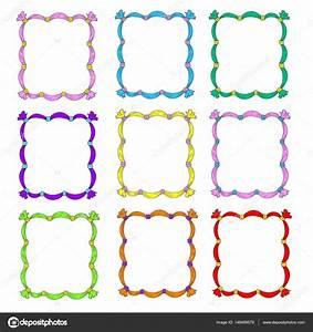Bilder Mit Weißem Rahmen : satz von frames frame vorlagen sind mehrfarbig rahmen mit b ndern vektor isoliert auf wei em ~ Indierocktalk.com Haus und Dekorationen