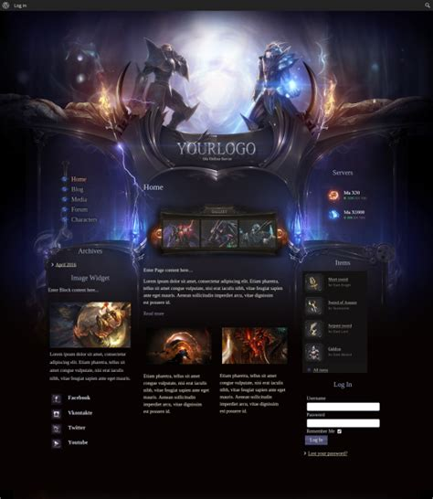 Gaming Website Themes And Templates Free Premium