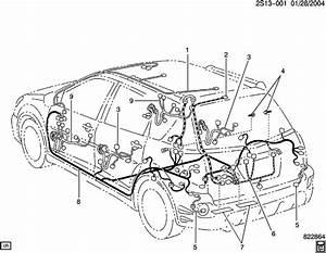 2006 Pontiac Vibe Wiring Harness  Body
