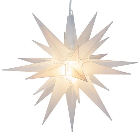 moravian stars  clear frosted led moravian star