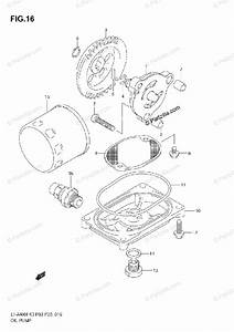 Suzuki Atv 2005 Oem Parts Diagram For Oil Pump