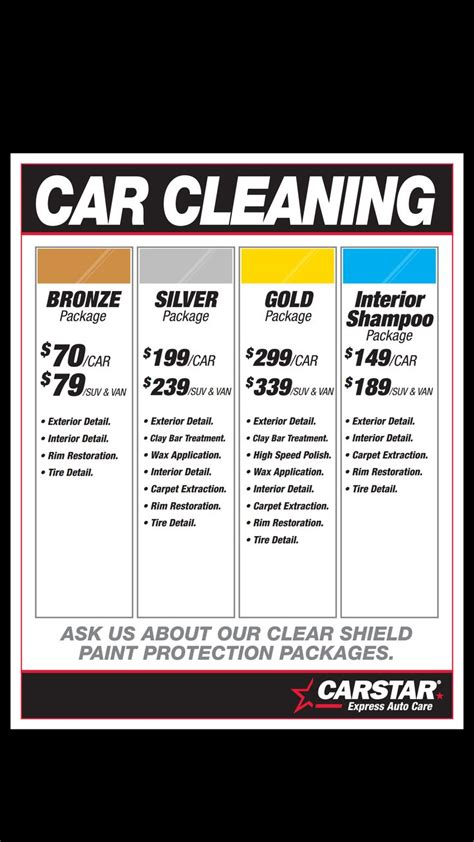 car detailing price list template after a winter here in ottawa the needs a detailing this local detailing