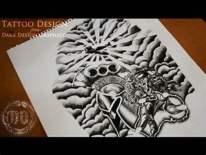 Half Sleeve Tattoo Design - Speed Drawing - YouTube