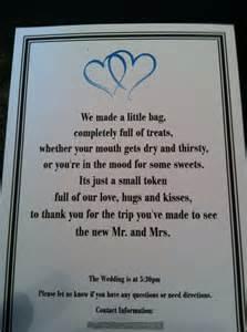 burlap wedding favors wedding hotel guest gift bag poem definitely copying