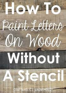 diy rustic wood sign tutorial painted letters pallets With letters to make signs