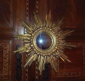 Miroir Grande Taille : ancien miroir soleil oeil de sorciere bois dore a la ~ Farleysfitness.com Idées de Décoration