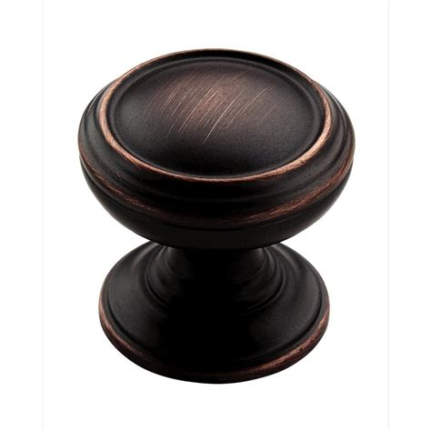 oil rubbed kitchen cabinet hardware shop amerock revitalize oil rubbed bronze round cabinet