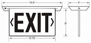 Recessed Edge-lit Exit Sign   Sku