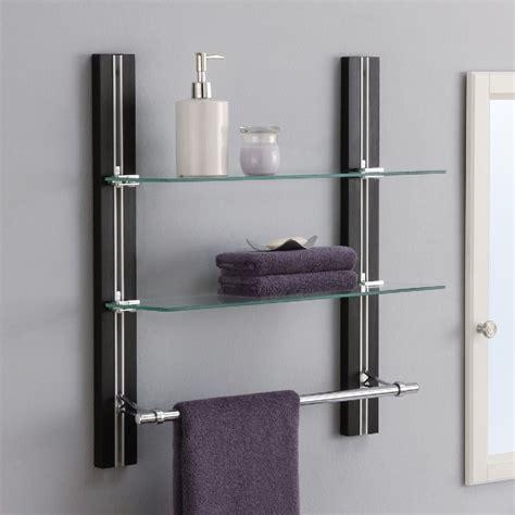 bathroom wall towel shelves bathroom shelves wall mounted wood towel rack adjustable 4347