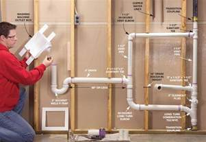 How To Plumb A Sink Drain by Plumbing Utility Sink And Washing Machine Drain Pipe