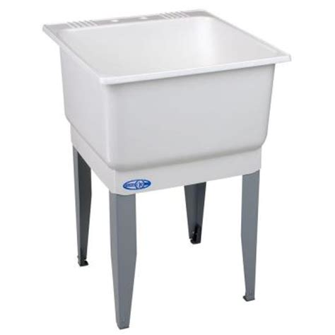 home depot laundry sink utilatub 23 in x 25 in polypropylene laundry tub