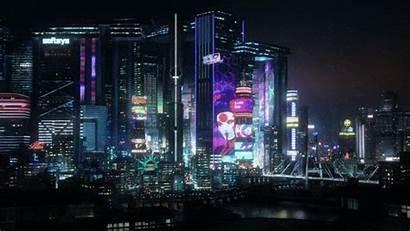 Cyberpunk Night 2077 Rain Stops Where
