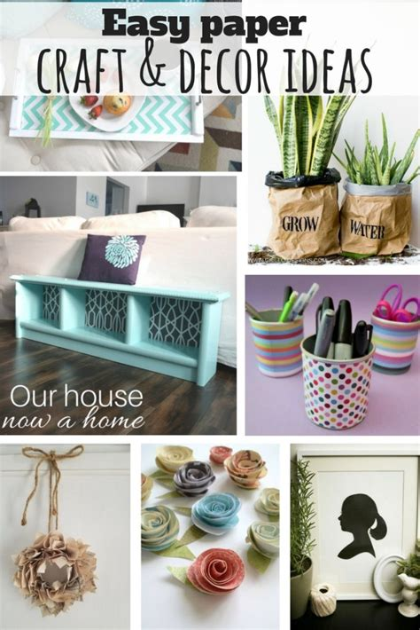 Creative Craft And Decor Ideas Using Paper • Our House Now