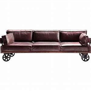Canapé Style Industriel : canape railway 3 places kare design achat vente canap sofa divan cdiscount ~ Teatrodelosmanantiales.com Idées de Décoration