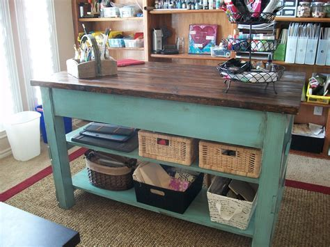 Ana White   Craft table from Michaela Island   DIY Projects