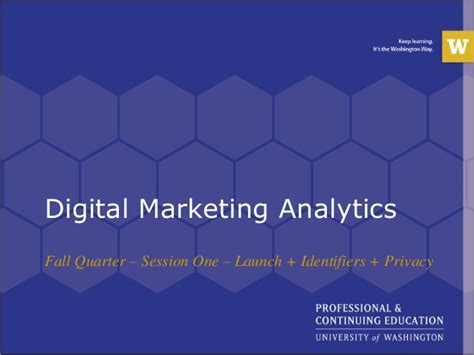 digital analytics certification digital marketing analytics certification session one
