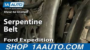 How To Replace Serpentine Belt 97-03 Ford Expedition