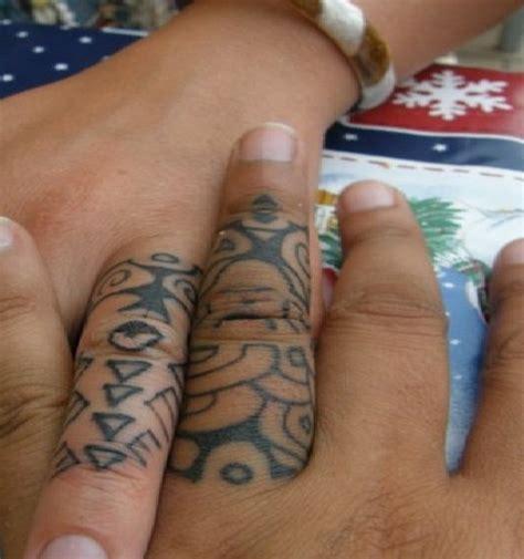 tribal cool wedding ring tattoos