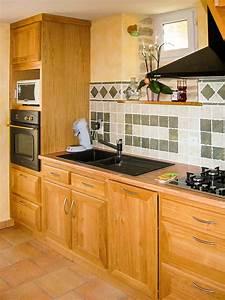Plan De Travail En Chene : cuisine chene massif vernis naturel plan de travail en ~ Premium-room.com Idées de Décoration