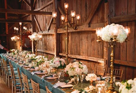 rustic elegance wedding reception venue  decor onewedcom