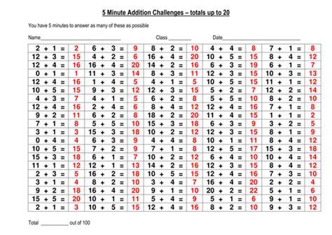 question addition challenge number bonds
