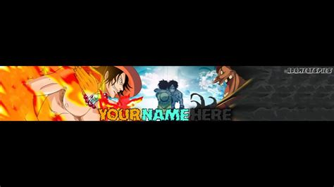 anime youtube channel art youtube channel art template one piece youtube