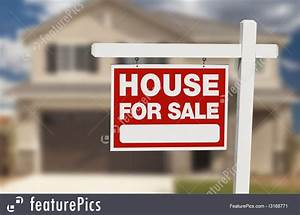 Photo Of House For Sale Real Estate Sign And New Home