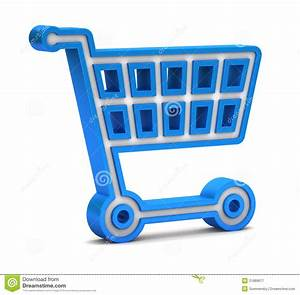 Blue Shopping Cart Icon Royalty Free Stock Photography ...