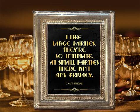 Roaring Twenties Party Decoration. F. Scott Fitzgerald Quote