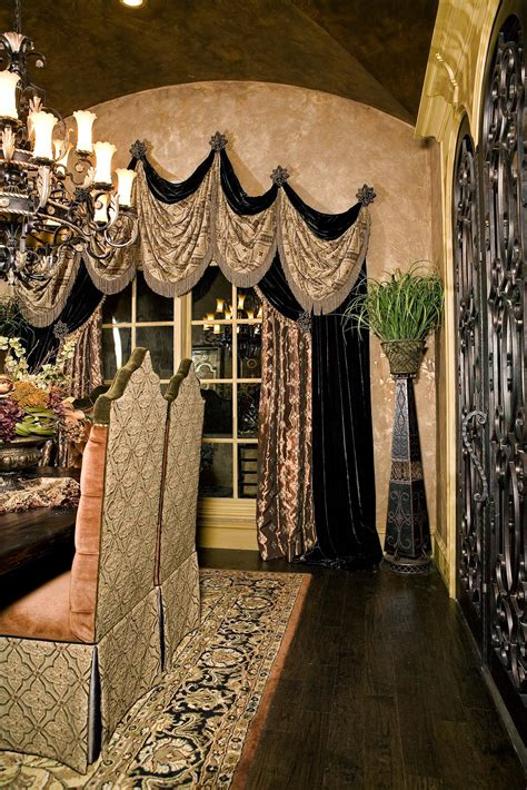 drapery world dining room curtains mediterranean tuscan world
