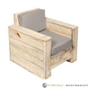 plan canapé en palette fauteuil bois brut et coussin quot baliveau quot eco durable