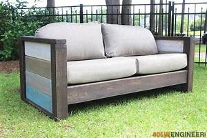 Free Plans } Outdoor Wood Plank Loveseat Wood planks