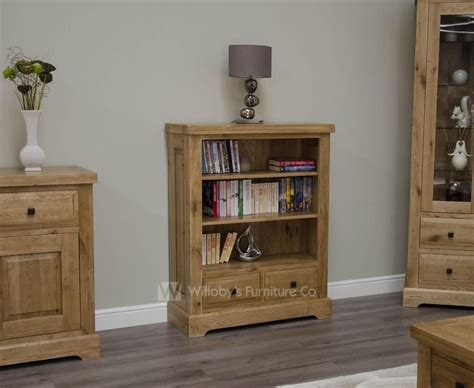 Oak Bookcases With Drawers by Buffalo Oak Low Bookcase With 2 Drawers