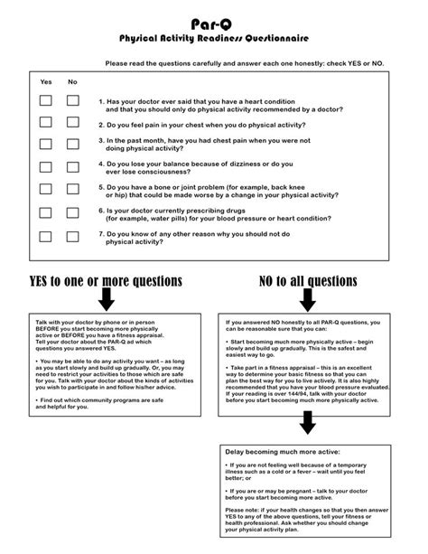 check list template environment for physical exercise 11 best images about personal trainers forms on pinterest