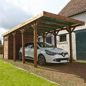 carport bois harry 1 voiture 17 m2 leroy merlin With toile jardin leroy merlin 17 carport brico depot