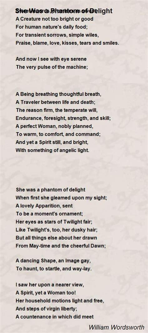 phantom  delight poem  william wordsworth