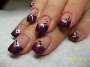 Purple Blue Nail Design Purple Gel Nail Design Black Polka L Nail Blue Nail Designs To Beauty Your Nails
