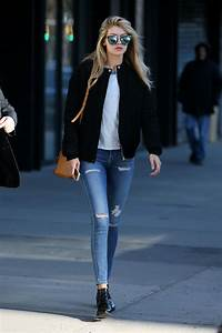 GIGI HADID in Ripped Jeans Out and About in New York - HawtCelebs