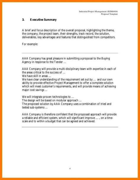 project executive summary template executive summary template for template business